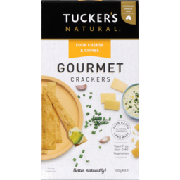 Photo of Tucker's Gourmet Crackers Cheese & Chives 100g