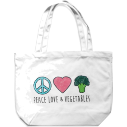 Photo of Peace Love & Vegetables Bag - Cotton Tote