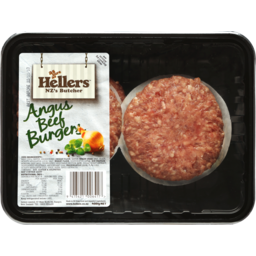 Photo of Hellers Burgers Angus Beef 400g