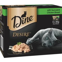 Photo of Dine Cat Food Desire With Succulent Chicken Breast 6 Pack