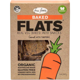 Photo of Fine Fettle Baked Flats - Carrot With Turmeric
