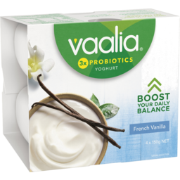 Photo of Vaalia Yoghurt French Vanilla 4x150g