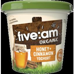Photo of Five Am Honey & Cinnamon Organic Yoghurt 700g