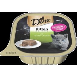 Photo of Dine Cat Food Kitten With Tender Chicken 85g