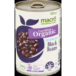 Photo of Macro Organic Black Bean No Added Salt 420g
