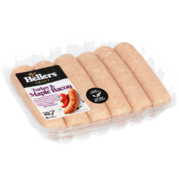 Photo of Hellers Turkey & Maple Bacon Sausages 6 Pack