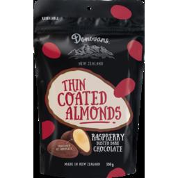 Photo of Donovans Chocolate Coated Almonds Raspberry 150g