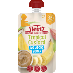 Photo of Heinz No Added Sugar Tropical Custard 6m+ Baby Food Pouch 120g