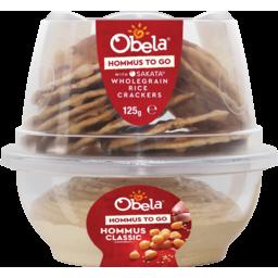 Photo of Obela Hommus To Go Smooth Classic Hommus With Sakata Wholegrain Rice Crackers 125g
