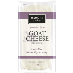 Photo of Meredith Dairy Goat Cheese Fresh Chevre Australian Native Pepperberry 150g