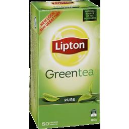 Photo of Lipton Green Tea Bag Pure 50 Pack 80g