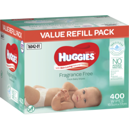 Photo of Huggies Thick & Soft Baby Wipes Fragrance-Free 400 Pack