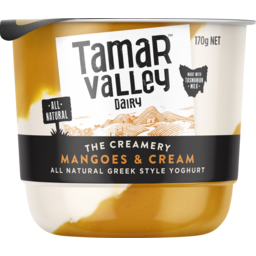 Photo of Tamar Valley The Creamery Mangoes & Cream Greek Style Yoghurt 170g