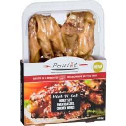 Photo of Poulet Heat'n'eat Honey Soy Oven Roasted Chicken Wings 460gm