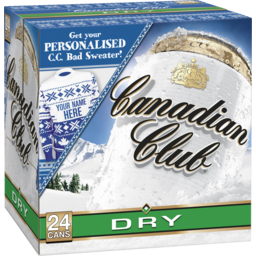 Photo of Canadian Club & Dry 4.8% 24 Pack 375ml