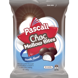 Photo of Pascall Choc Marshmallow Bites Vanilla Lollies 160g