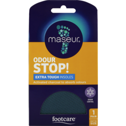 9352a196f9cf Photo of Footcare Maseur Odour Stop Extra Tough Insoles 1 Pair