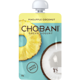 Photo of Chobani Limited Batch Greek Yogurt Pineapple Coconut 140g