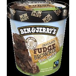 Photo of Ben And Jerry's Ben & Jerry`S Non-Dairy Frozen Dessert Chocolate Fudge Brownie 458ml