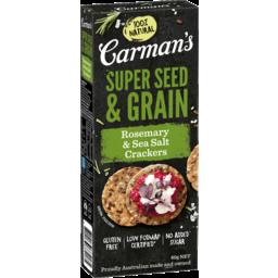 Photo of Carman's Rosemary & Sea Salt Super Seed & Grain Crackers 80g