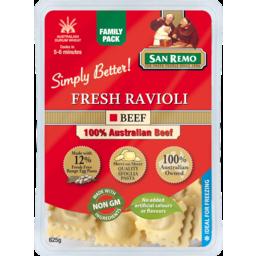 Photo of San Remo Fresh Ravioli Pasta 625g