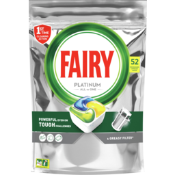 Photo of Fairy Platinum All In One Lemon Dishwasher Capsules 52 Pack