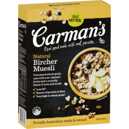 Photo of Carmans Natural Bircher Muesli 500g