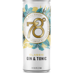 Photo of 78 Degrees Gin & Tonic Cans