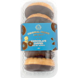 Photo of Original Foods Donuts Chocolate Dipped 5 Pack