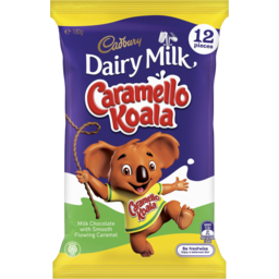 Photo of Cadbury Dairy Milk Caramello Koala Chocolate Sharepack 12 Pack 180g