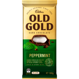 Photo of Cadbury Old Gold Peppermint Dark Chocolate 180g