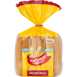 Photo of Natures Fresh Rolls Hot Dog 6 Pack