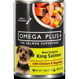 Photo of Omega Plus Salmon, Chicken, Vege Dog Good 375gm
