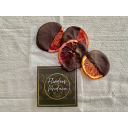 Photo of Flinders Produce  - Dark Chocolate coated Orange & Blood Orange 50g