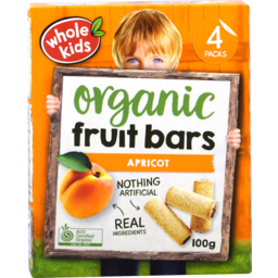 Photo of Whole Kids Fruit Bars Apricot 4 Pack 100gm