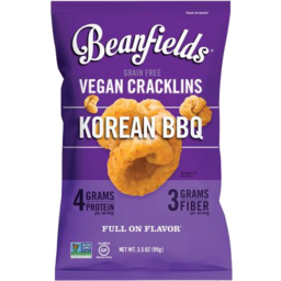 Photo of Beanfields Vegan Cracklins Korean BBQ 156g