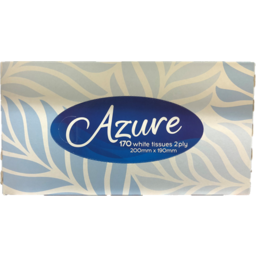 Photo of Azure Facial Tissues 2 Ply White 170 Pack