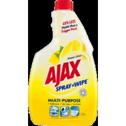 Photo of Ajax Spray N' Wipe Multipurpose Antibacterial Household Cleaner Refill Lemon Citrus 750ml