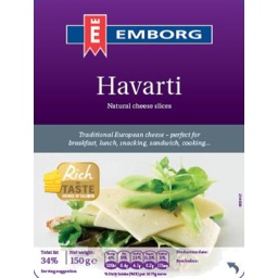 Photo of Emborg Havarti Cheese Slices 150g
