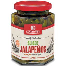 Photo of Sandhurst Extra Spicy Jalapeno Chillies 270gm