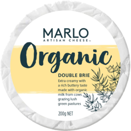 Photo of Marlo Organic Double Brie Cheese 200g