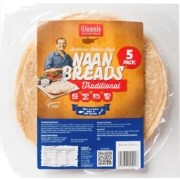 Photo of Giannis Traditional Naan Bread 5 Pack