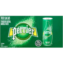 Photo of Perrier Sparkling Water Slim Can 10x250ml