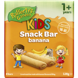 Photo of Raffertys Garden Fruit Snack Bar With Banana 8pk 128g