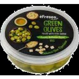 Photo of E/Fresco Green Olives/Feta 185g