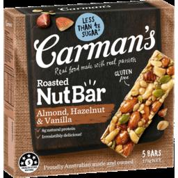 Photo of Carman's Roasted Nut Bar Almond, Hazelnut & Vanilla 5 Pack 175g