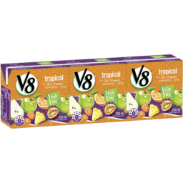 Photo of V8 Fruit & Veg Tropical 3x250ml