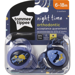 Photo of Tommee Tippee Closer To Nature Night-Time Soothers, 2x6m