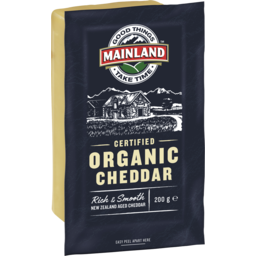 Photo of Mainland Organic Cheddar Cheese 200 G