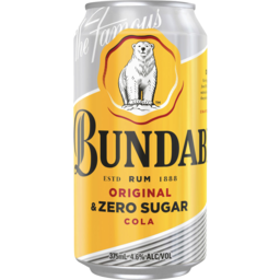 Photo of Bundaberg Original Rum & Zero Sugar Cola 375ml Can